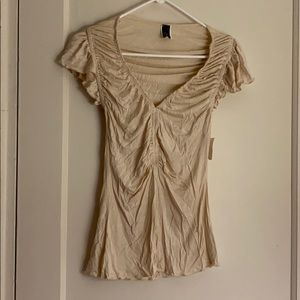 2 for $15 NWT 2 cute cream ruffled top